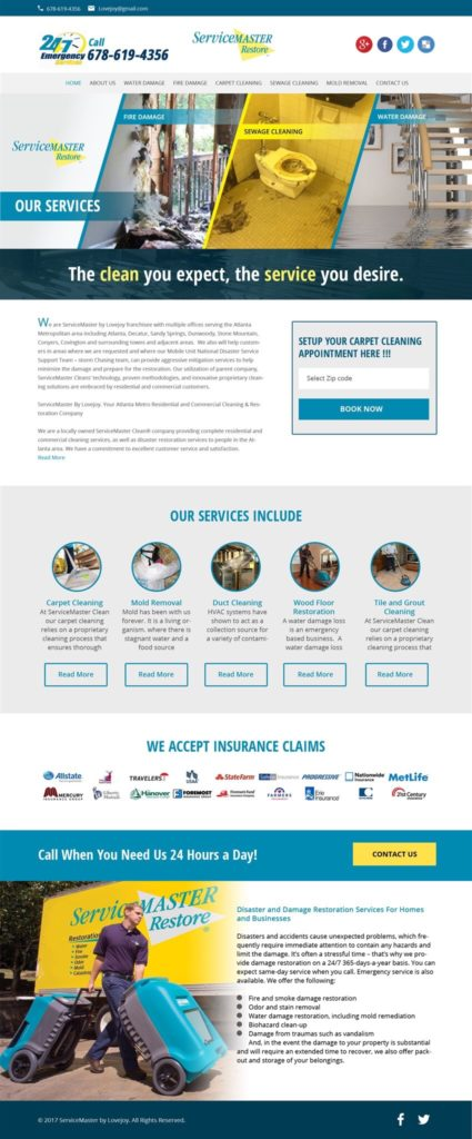 ServiceMaster Website Builder